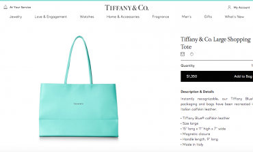 La shopping bag Tiffany, da gadget a prodotto