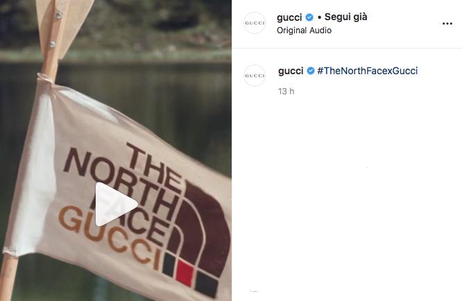 Gucci collabora con The North Face