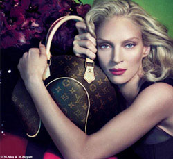 Uma Thurman per Louis Vuitton