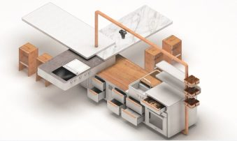 Frigo2000 e Poli.design, la cucina è estensibile