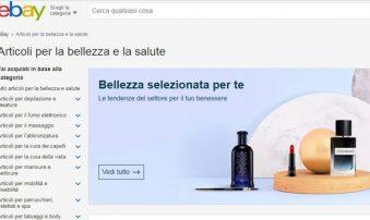 Ebay, vendite cosmesi a +13% nel 2018